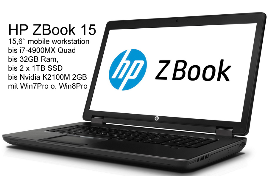HP ZBook 15 G2 Panther 15,6'' FHD IPS i7-4810MQ 16GB 250GB-SSD K1100M-2GB W7P/W10P *IPS Panel*